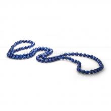 Бусы из синего барочного речного жемчуга 11-12 мм. Артикул 11298