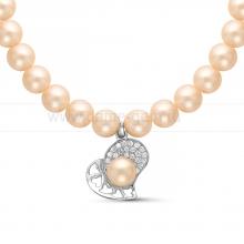 Ожерелье с кулоном из розового речного жемчуга. Артикул 11351