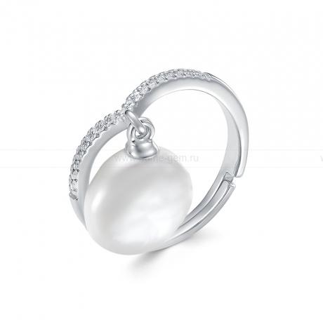 Кольцо из серебра с белой барочной жемчужиной 12-13 мм. Артикул 11397