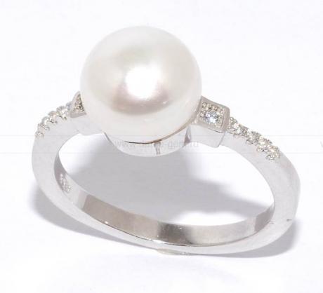 Кольцо с розовой жемчужиной. Артикул 11419