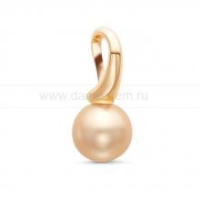 Кулон из золота с золотистой жемчужиной. Артикул 11454