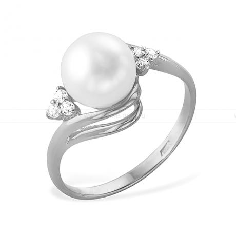 Кольцо из серебра с белой жемчужиной 7-7,5 мм . Артикул 11471