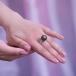 Кольцо из золота с черной Таитянской жемчужиной 12-12,5 мм. Артикул 11473
