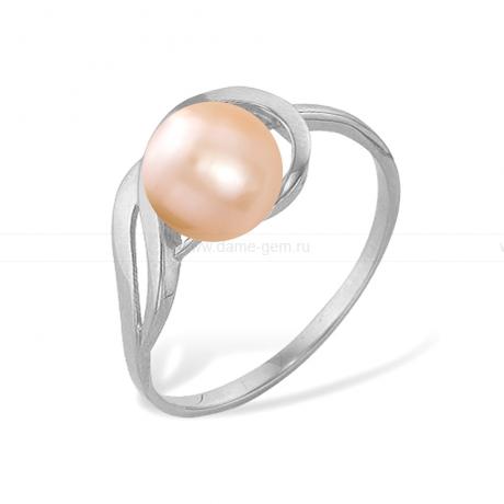 Кольцо с розовой жемчужиной. Артикул 11492
