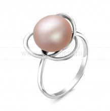 Кольцо из серебра с розовой жемчужиной 10,5-11 мм. Артикул 11498