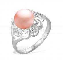 Кольцо из серебра с розовой жемчужиной. Артикул 11543