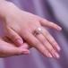 Кольцо с белой речной японской жемчужиной. Артикул 11550