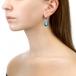 Серьги из серебра с голубыми жемчужинами 11-12 мм. Артикул 11562