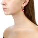 Серьги из серебра с красными жемчужинами 11-12 мм. Артикул 11566