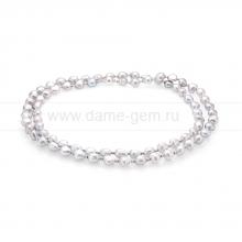 Ожерелье со вставками из серого барочного речного жемчуга 8-8,5 мм. Артикул 11567