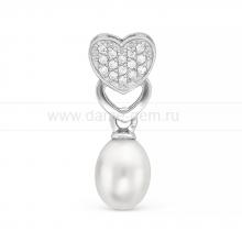 Кулон из серебра с каплевидной жемчужиной. Артикул 11568