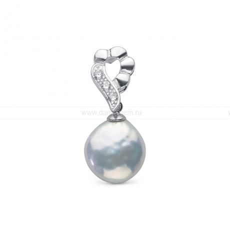 Кулон из серебра с белой жемчужиной