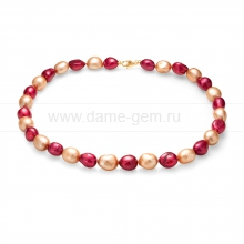 "Ожерелье ""микс"" из барочного речного жемчуга 11-12 мм. Артикул 11609"