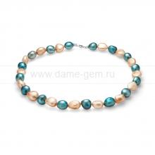 "Ожерелье ""микс"" из барочного речного жемчуга 11-12 мм. Артикул 11612"