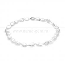 Колье (ожерелье) из белого барочного жемчуга 10-13 мм. Артикул 11614