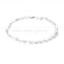 Колье (ожерелье) из белого барочного жемчуга 9-11 мм. Артикул 11615