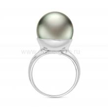 Кольцо из золота с черной Таитянской жемчужиной. Артикул 11645