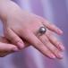 Кольцо из золота с черной Таитянской жемчужиной 15-15,5 мм. Артикул 11645