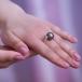Кольцо из золота с черной Таитянской жемчужиной 13-13,5 мм. Артикул 11651