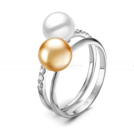 Кольцо из белого золота с морскими жемчужинами Акойя 7,5-8 мм. Артикул 11657
