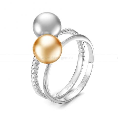 Кольцо из золота с морскими жемчужинами Акойя 7,5-8 мм. Артикул 11658