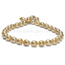 Колье (ожерелье) из золотистого барочного Австралийского жемчуга. Артикул 11666