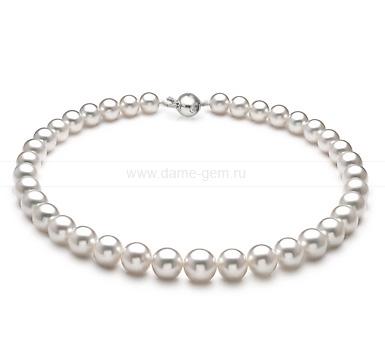 Ожерелье из белого морского Австралийского жемчуга 10,1-13 мм. Артикул 11667