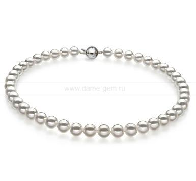 Ожерелье из белого морского Австралийского жемчуга 8-10 мм. Артикул 11669