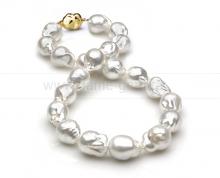 "Ожерелье из белого морского Австралийского жемчуга ""Барокко"" 12-15 мм. Артикул 11675"