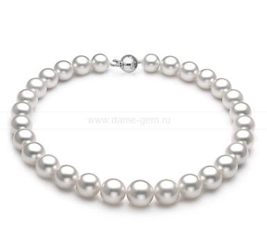 Ожерелье из белого морского Австралийского жемчуга 13-15,6 мм. Артикул 11676