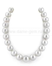 Ожерелье из белого морского Австралийского жемчуга 13-16 мм. Артикул 11678