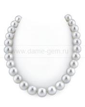Ожерелье из светло-серого морского Австралийского жемчуга 14-17,5 мм. Артикул 11683