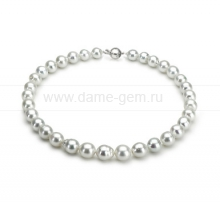 "Ожерелье из белого морского Австралийского жемчуга ""Барокко"" 10-12 мм. Артикул 11684"