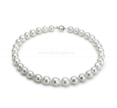 Колье (ожерелье) из белого барочного Австралийского жемчуга. Артикул 11684