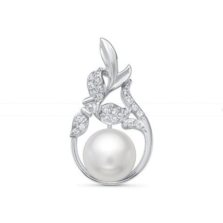 Кулон из серебра с белой жемчужиной 8,5-9 мм. Артикул 11688