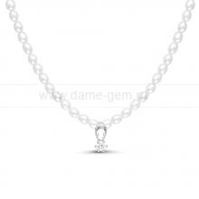 """Ожерелье """"Нежность"""" из рисообразного речного жемчуга. Артикул 11692"""