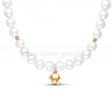 "Детское ожерелье ""Корона"" из круглого речного жемчуга 7,5-8 мм. Артикул 11695"