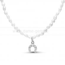 """Детское ожерелье """"Подкова"""" из барочного речного жемчуга 2-3 мм. Артикул 11722"""