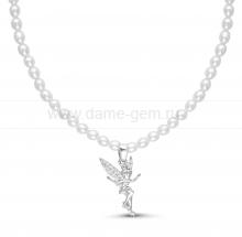 "Ожерелье ""Феечка"" из рисообразного жемчуга. Артикул 11723"