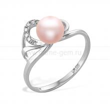 Кольцо из серебра с розовой жемчужиной. Артикул 11787