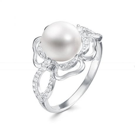 Кольцо из серебра с белой жемчужиной 8,5-9 мм. Артикул 11790