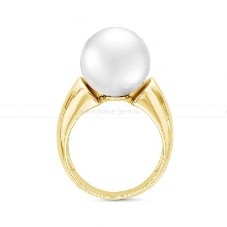 Кольцо с белой японской пресноводной жемчужиной. Артикул 11795