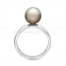 Кольцо из серебра с черной Таитянской жемчужиной. Артикул 11796