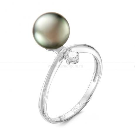 Кольцо из серебра с черной Таитянской жемчужиной 9,5-10 мм. Артикул 11797