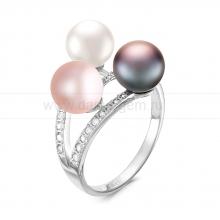 Кольцо из серебра с пресноводными жемчужинами. Артикул 11799