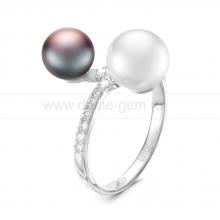Кольцо из серебра с пресноводными жемчужинами. Артикул 11800