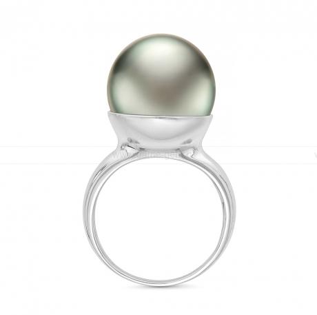 Кольцо из серебра с черной Таитянской жемчужиной. Артикул 11801