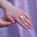 Кольцо из серебра с белой барочной жемчужиной. Артикул 11802
