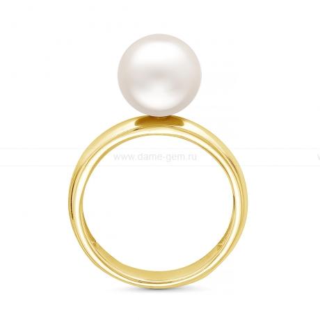 Кольцо из серебра с белой жемчужиной 8,5-9 мм. Артикул 11803