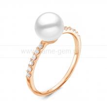 Кольцо из серебра с белой речной жемчужиной 7-7,5 мм. Артикул 11805